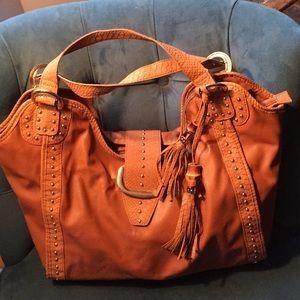 Big Buddha brown leather purse